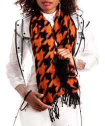 sunset houndstooth printed scarf