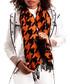 sunset houndstooth printed scarf Sale - alber zoran Sale