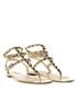 Gold studded leather sandals Sale - valentino garavani Sale