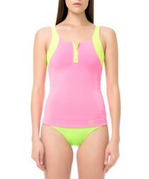 pink & fluo swim top