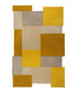 Collage ochre pure wool rug 180cm Sale - flair rugs Sale