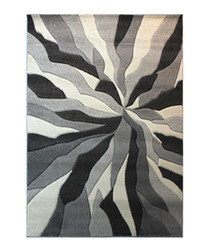 SPLINTED GREY RUG 120 x 170cm