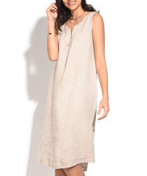natural pure linen dress