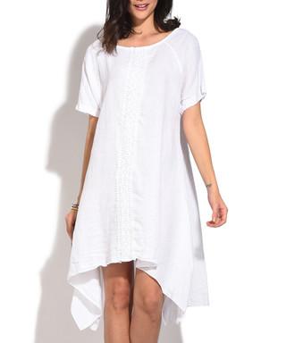8765b78451 white white pure linen relax midi dress Sale - william de faye Sale