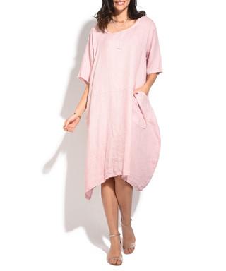 96d9246a45 old rose pure linen relax midi dress Sale - william de faye Sale