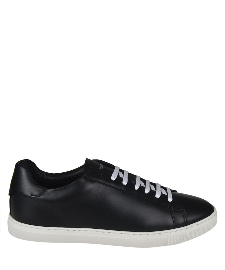 New Tennis black leather sneakers Sale - dsquared2