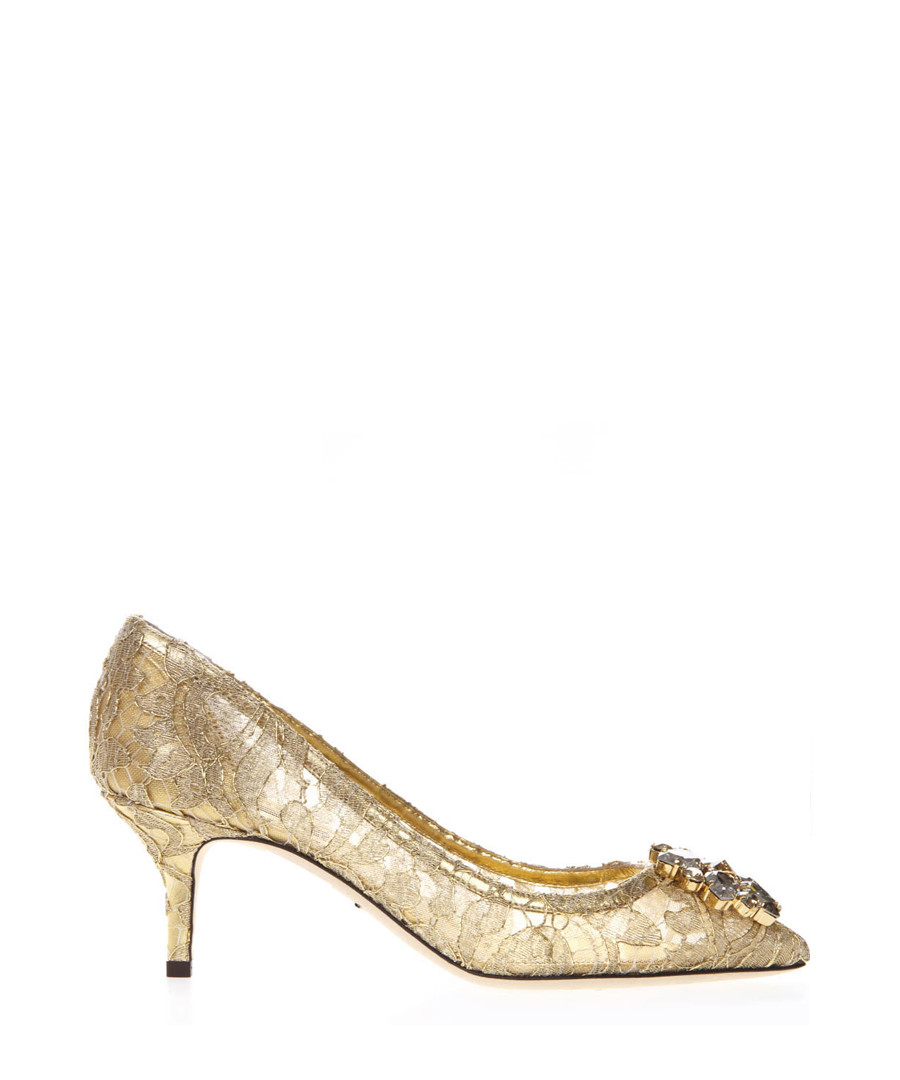 Bellucci gold lace mid-heels Sale - dolce & gabbana