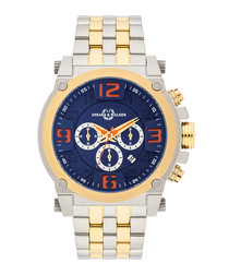 Varus two-tone stainless steel watch
