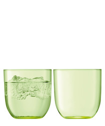 2pc Pale lime tumbler set