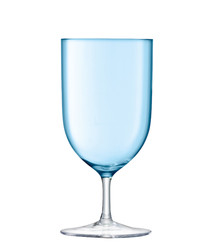 2pc Pale turquoise wine glass set