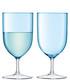 2pc Pale turquoise wine glass set Sale - lsa Sale