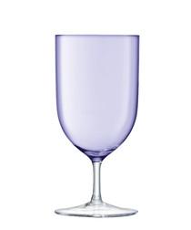 2pc Pale violet wine glass set