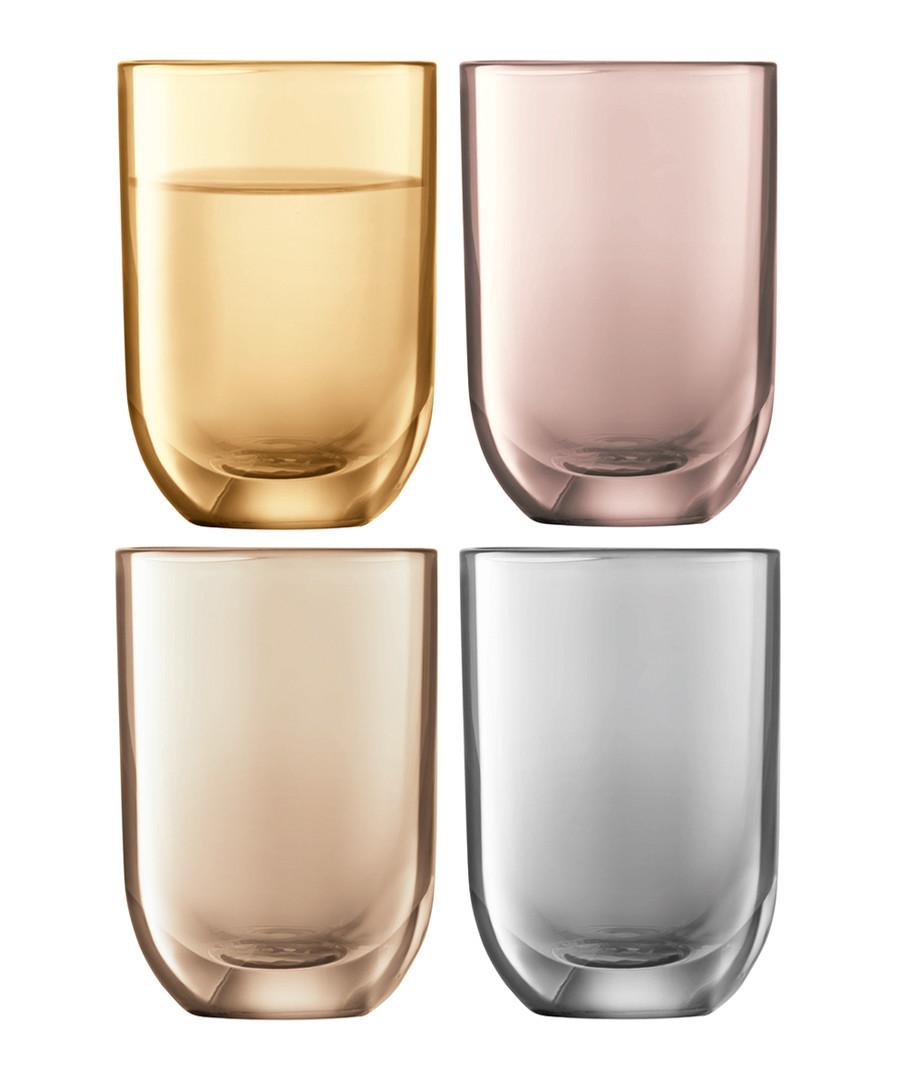 4pc Polka metallic vodka glass set Sale - lsa