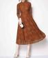 Caramel long sleeve midi dress Sale - Kaimilan Sale