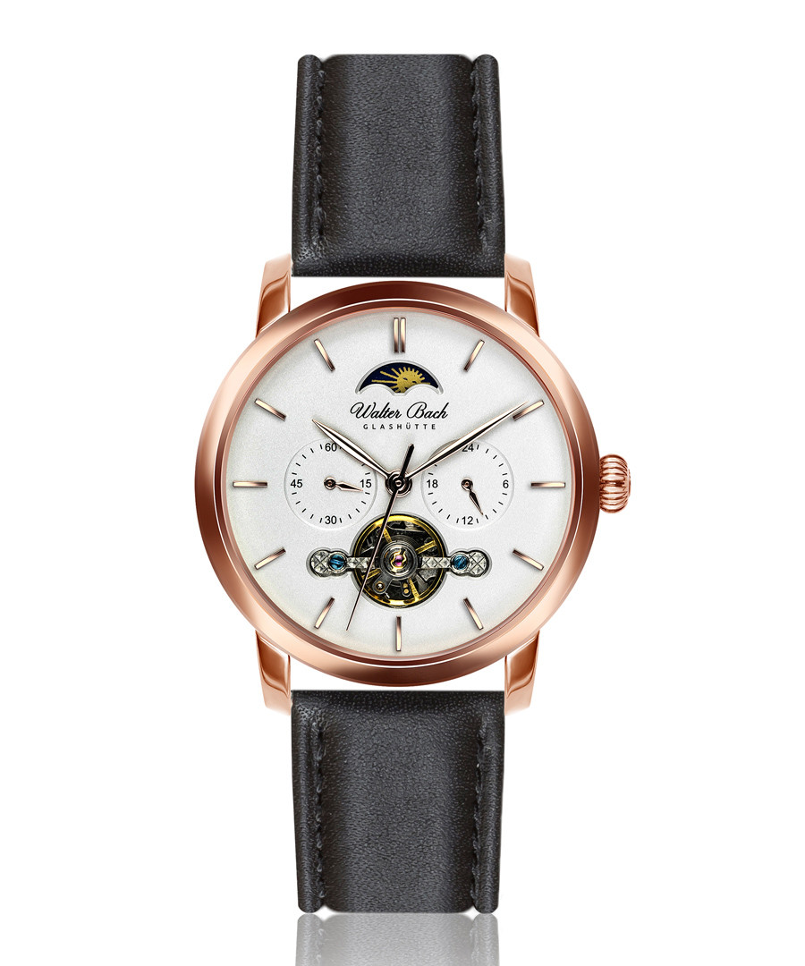 Dinkelsbuhl black leather watch Sale - walter bach