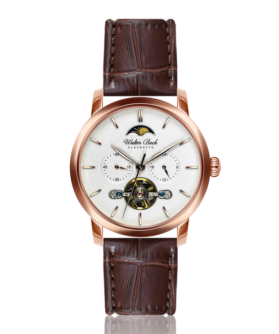 Dinkelsbuhl walnut leather watch Sale - walter bach