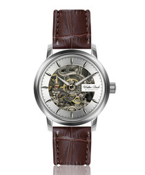 Oberammergau walnut leather watch