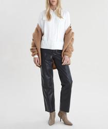 Vaporous white long sleeve shirt