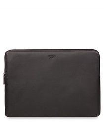 "Barbican leather 15"" laptop sleeve"