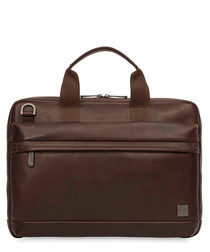 "Foster leather 14"" laptop briefcase"