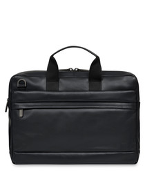 "Foster leather 15.6"" laptop briefcase"