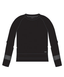 Black beauty cotton blend sweatshirt