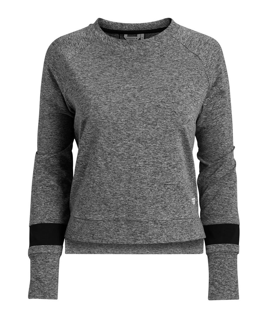 Grey melange cotton blend sweatshirt Sale - Bjorn Borg