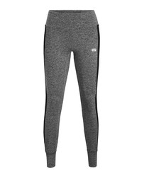 Grey melange cotton blend leggings