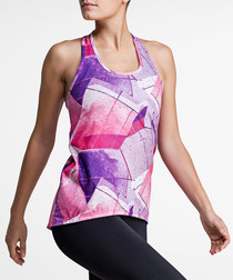 Asphalt print logo strip tank top