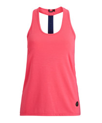 Knockout pink strip tank top