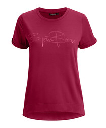 Beet red cotton logo T-shirt