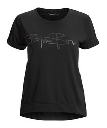Black beauty cotton logo T-shirt