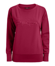 Beet red logo sweatshirt