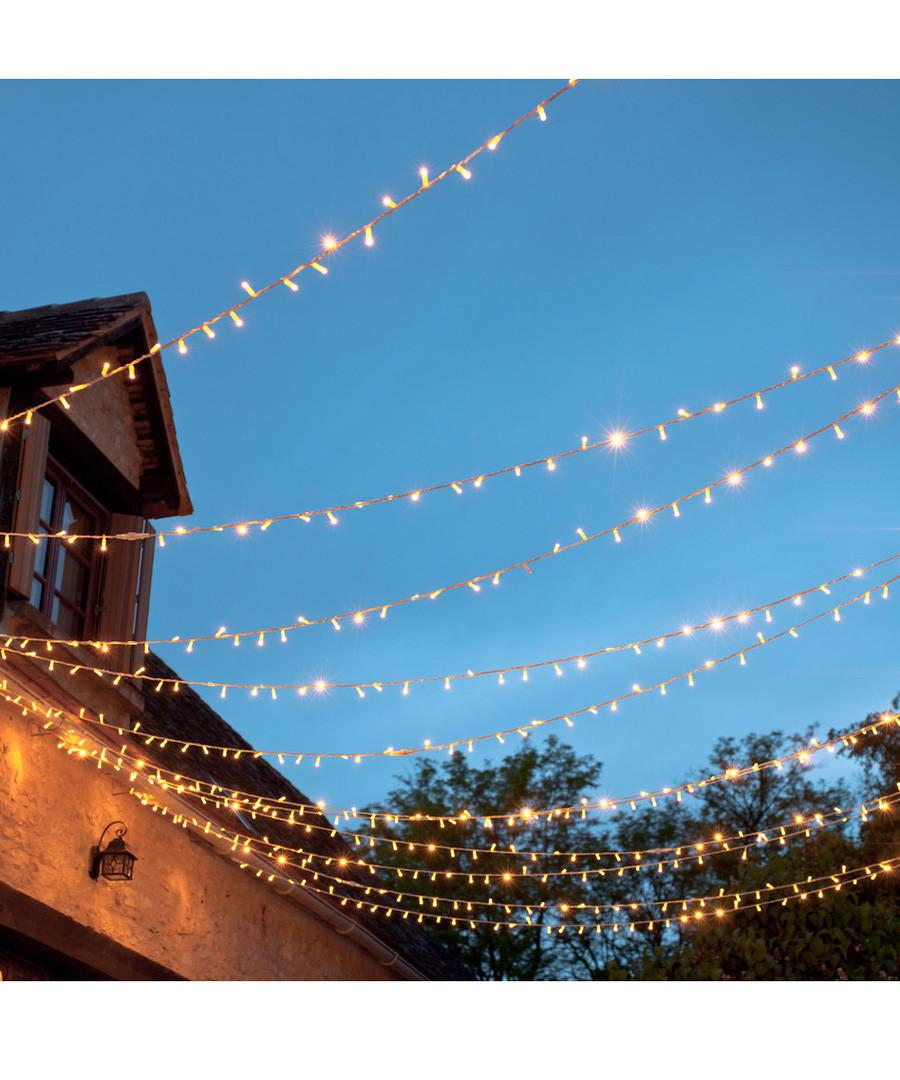 3pc Solar fairy light trail 50 LED, 10m Sale - dynergy