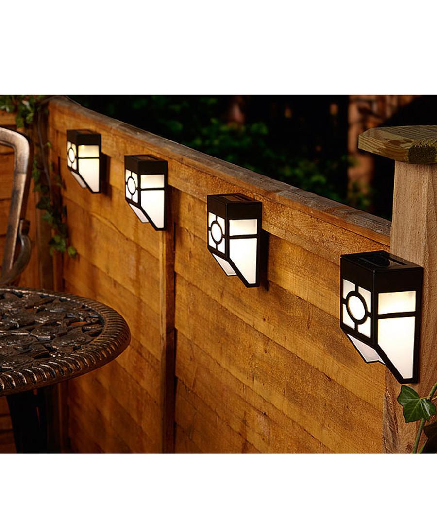 4pc solar power fence lights Sale - dynergy