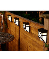 4pc solar power fence lights