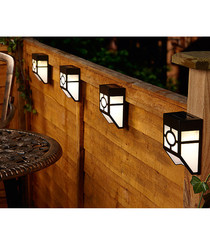 8pc solar power fence lights