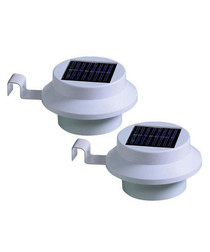 white solar gutter light