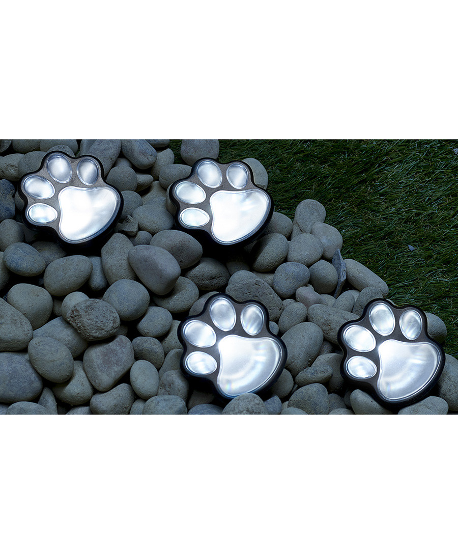 12pc Globrite paw print solar lights Sale - dynergy