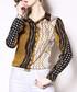 Black & bronze print long sleeve shirt Sale - Kaimilan Sale