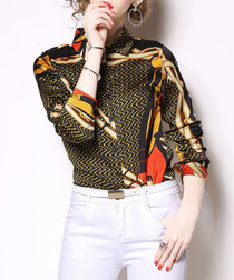 Multi-colour print long sleeve shirt