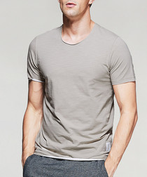 taupe cotton T-shirt
