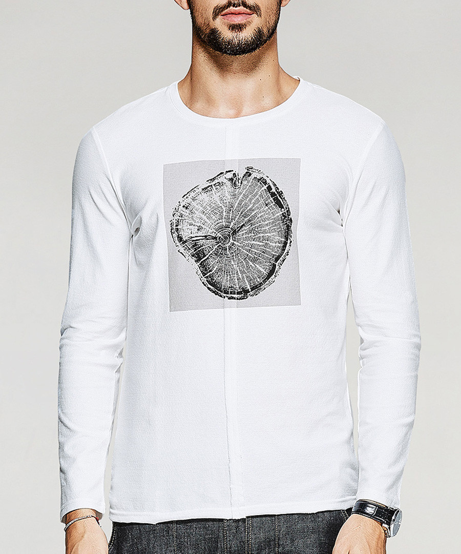 white cotton graphic T-shirt Sale - kuegou