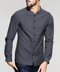 pewter bar collar shirt