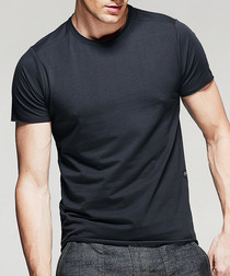 charcoal cotton stretch T-shirt