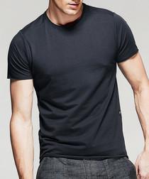 charcoal cotton stretch T-shirt