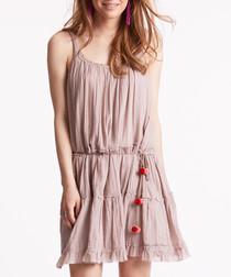 Love Crush cotton button detail dress