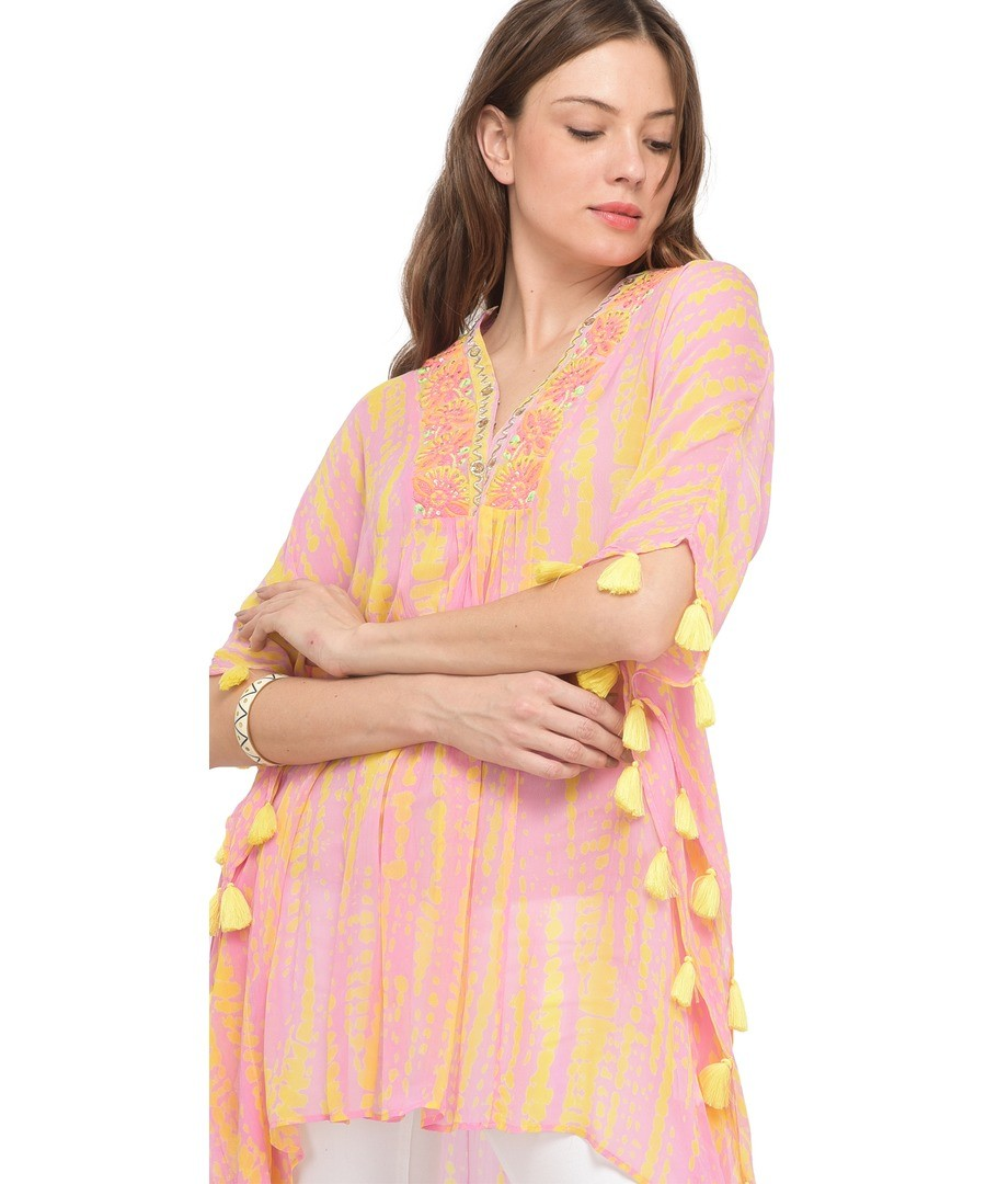 Printed poncho dress J42 Sale - Miss June