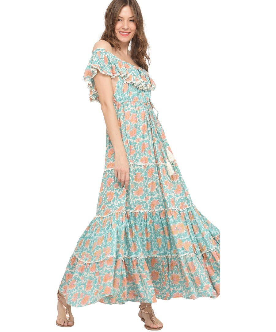 Long printed cotton dress J55 Sale - Miss June