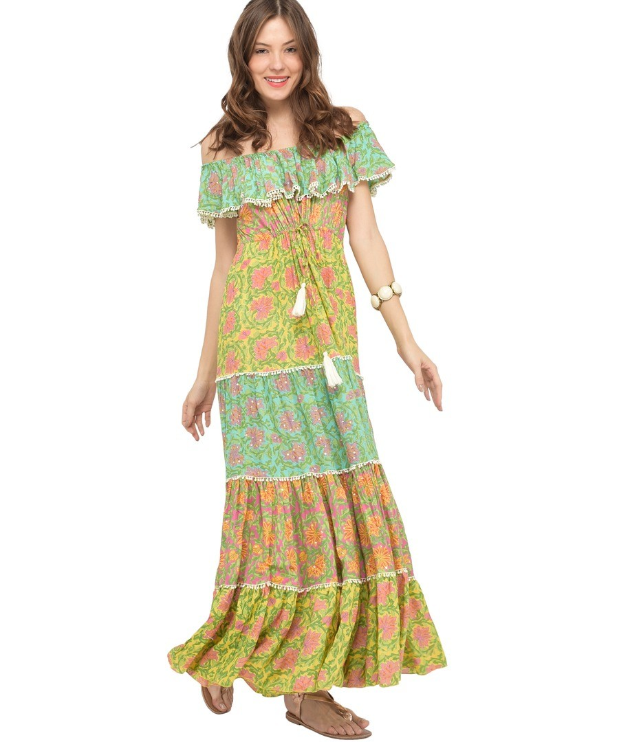 Long printed cotton dress J55 Sale - Miss June